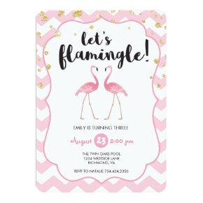 Let's Flamingle Birthday Invitation