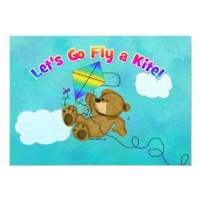 Let's Go Fly A Kite Invitation