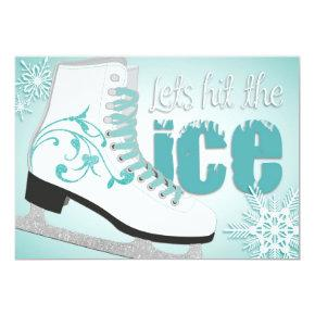 Lets hit the ice! Skating Invitation