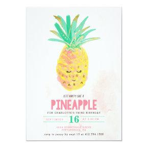 Let's Party Like a Pineapple Birthday Invitations