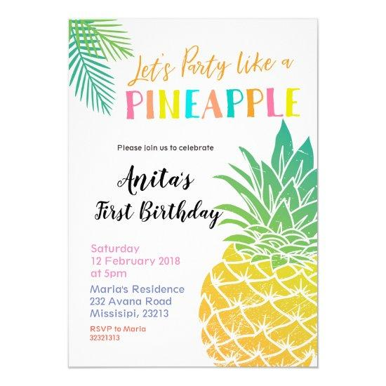 let s party like a pineapple invitations candied clouds