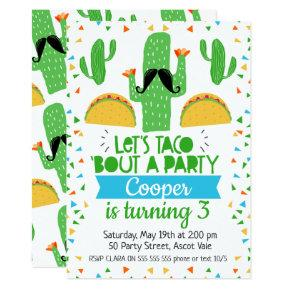 Let's Taco ''bout A Party Birthday Invitations