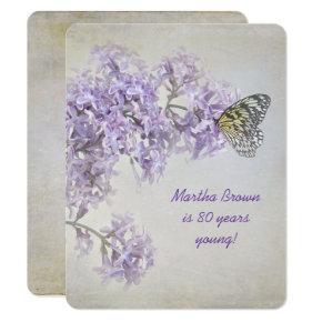 Lilac Birthday Invitation