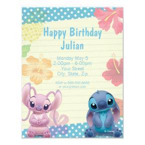 Lilo & Stitch Birthday Invitations