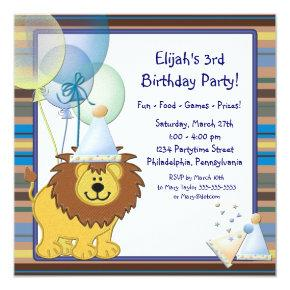 Lion Balloons Boy 3rd Birthday Party Candied Clouds