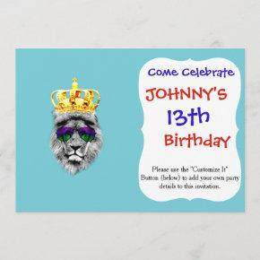 Lion king invitation