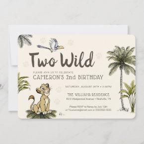 Lion King Two Wild Second Birthday Invitation