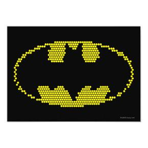 Lite-Brite Bat Emblem Invitation