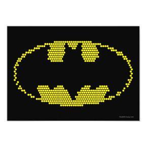 Lite-Brite Bat Emblem Invitations