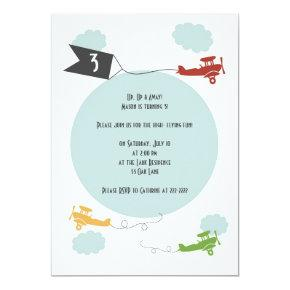 Little Airplanes Birthday Invitation