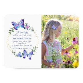 Little Butterfly Photo Invitations