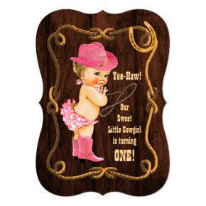 Little Cowgirl 1st Birthday Invitation