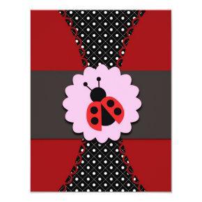Little Ladybug Birthday Invitation for Kids