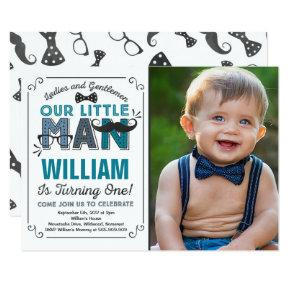 Little man birthday invitations candied clouds little man 1st birthday invitation mustache party filmwisefo