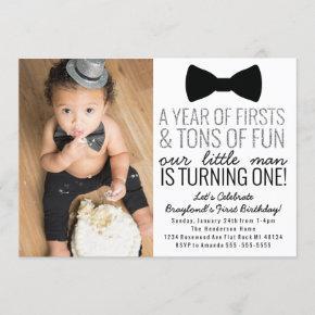 Little Man First Birthday Invitation
