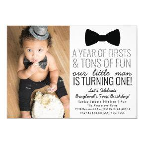 Little Man First Birthday Invitations