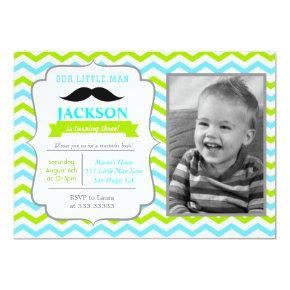 Mustache Bash Birthday Invitations Candied Clouds