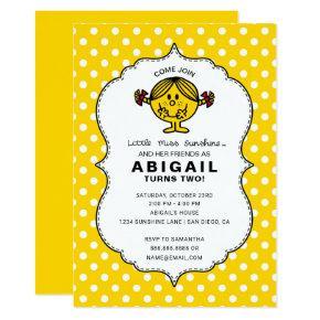 Little Miss Sunshine | Yellow Birthday Invitation