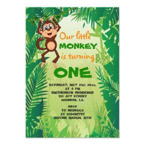 Little Monkey Birthday Invitation
