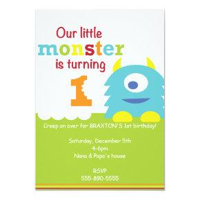 Little Monster Birthday invitation