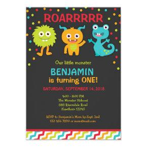 Little Monster Birthday Invitations, Monster Invite