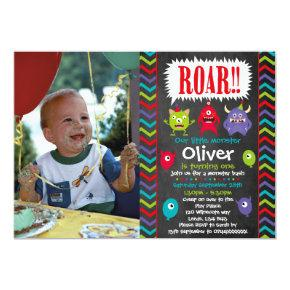 Little Monster birthday party invitations