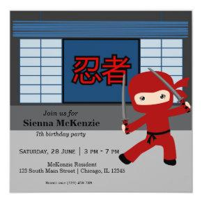 Little ninja birthday theme card