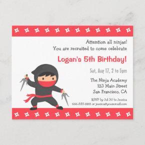 Little Ninja Kids Birthday Party