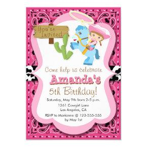 Little Pony Cowgirl Birthday Party Invitaiton Invitation