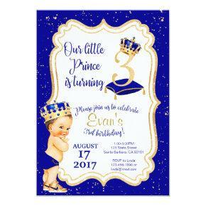 Little Prince Birthday Invitation- 3rd Birthday Invitation