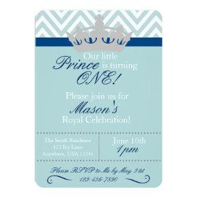 Little Prince First Birthday Invitations