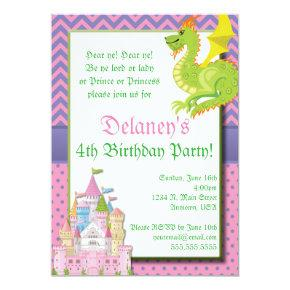 Little Princess Fairy Tale Party Invitations