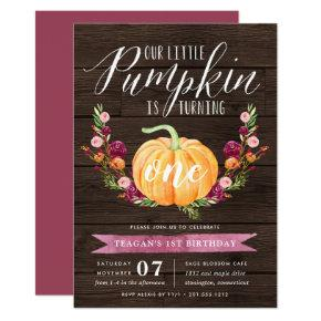 Little Pumpkin Custom Age Birthday Party Invitation