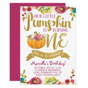 Little Pumpkin First Birthday Card