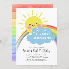 Little Ray Of Sunshine Birthday Invitation