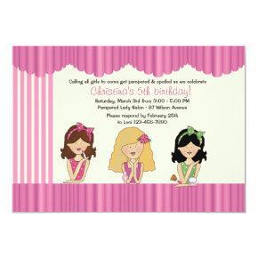 Little Salon Beauties Spa Invitations