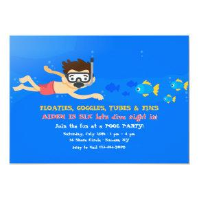 Little Snorkeler Invitation