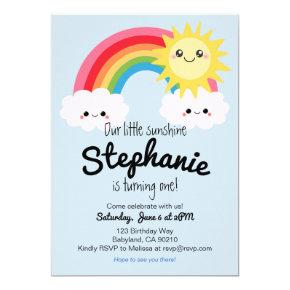 Little Sunshine Birthday invitation