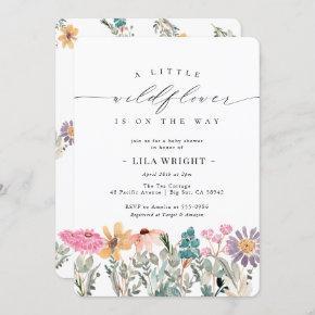 Little Wildflower Flower Baby Shower Invitation