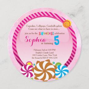 Lollipop Invitation - CandyLand Invitation
