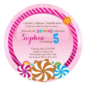 Sweetie pop lollipop birthday invitations candied clouds lollipop invitation candyland invitation filmwisefo