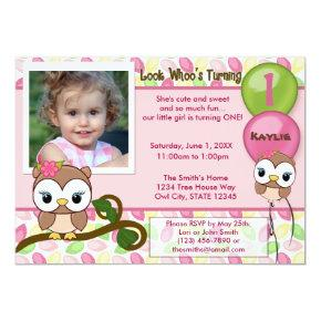 Look Whoo's Turning OWL birthday Invitations(photo) Invitations