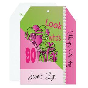 Funny 90th Gag Gifts Birthday Invitations Candied Clouds