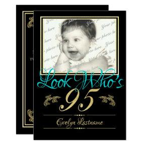 Look Who's 95 Photo Invitation