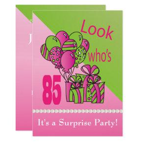 Surprise 85th party birthday invitations candied clouds look whos turning 85 85th birthday invitations filmwisefo