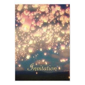 Love Wish Lanterns - Birthday Invitation