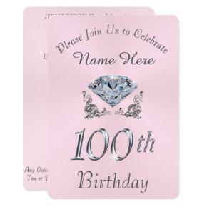 Lovely Diamond 100th Birthday Party