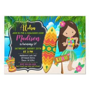 Luau Birthday Invitations Aloha Invites