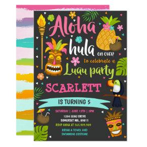 Luau Birthday Invitation Hawaiian Luau Party