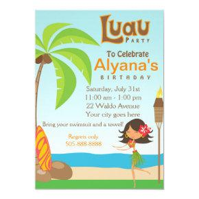 Luau Birthday Party Invitation Invitations